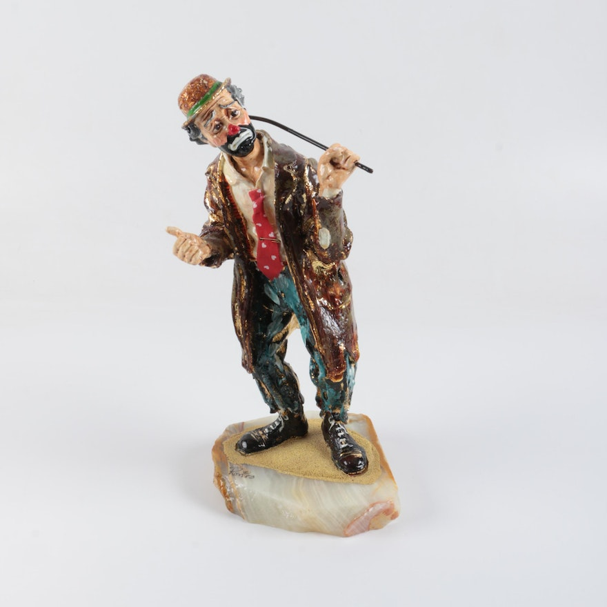 "Signed Limited Edition Emmett Kelly Jr. ""Spirit of Christmas XIII"" Clown  Figurine (#2243)"