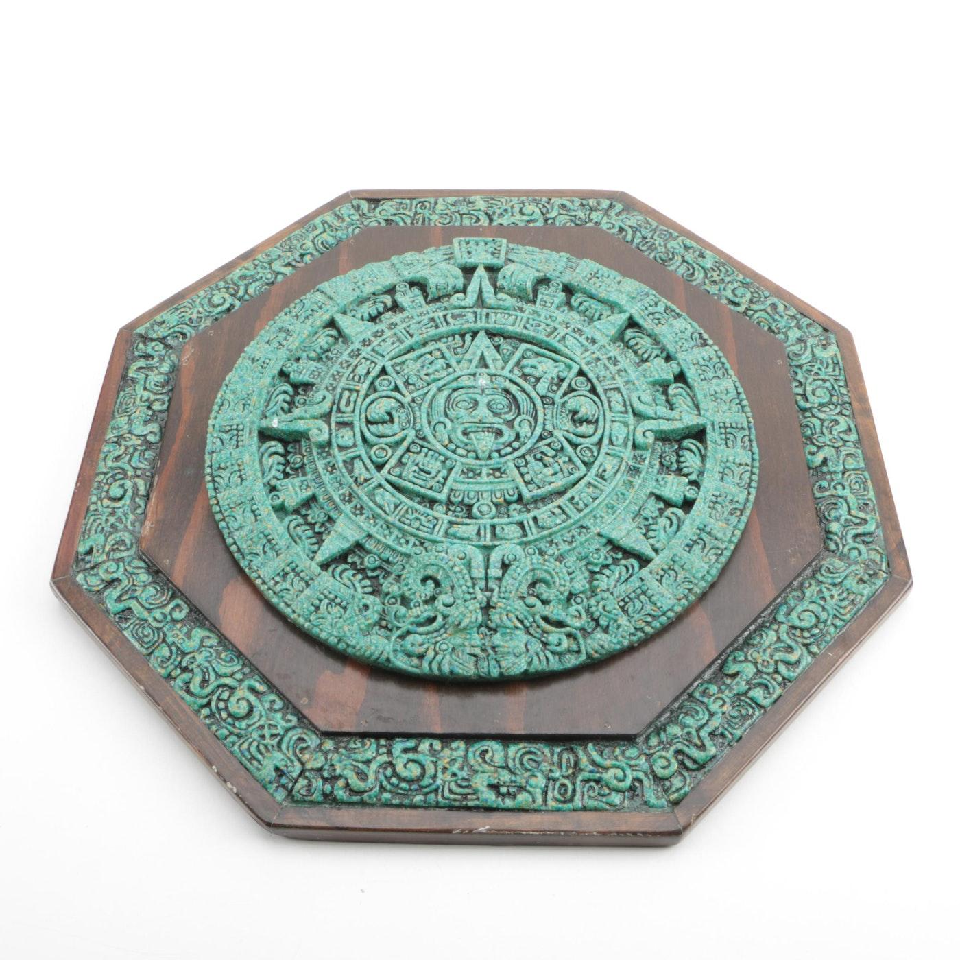 Aztec calender ceramic wall decor ebth for Aztec decoration