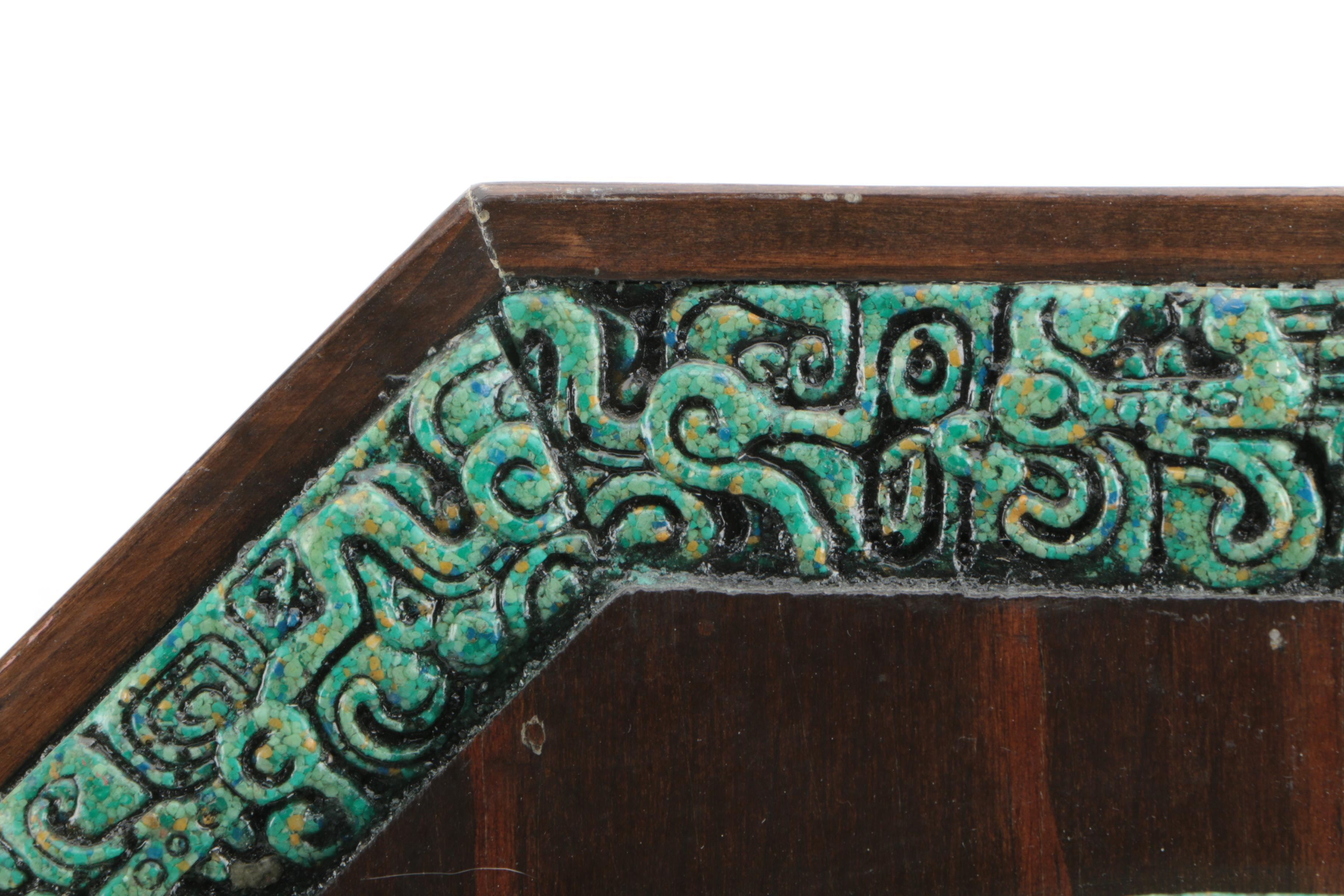Aztec Calender Ceramic Wall Decor Ebth