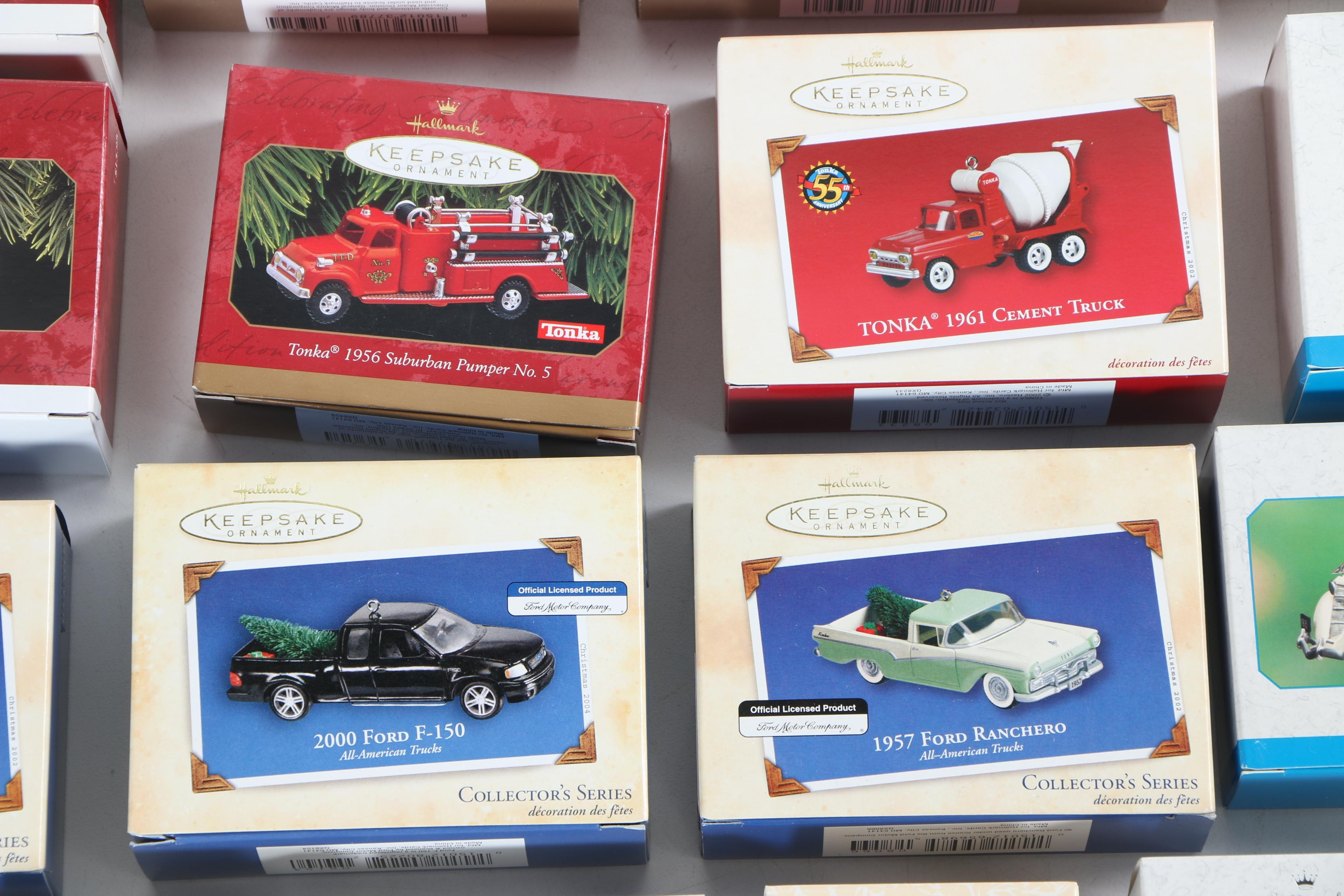 Collection Of Hallmark Vintage Roadsters Ornaments Ebth