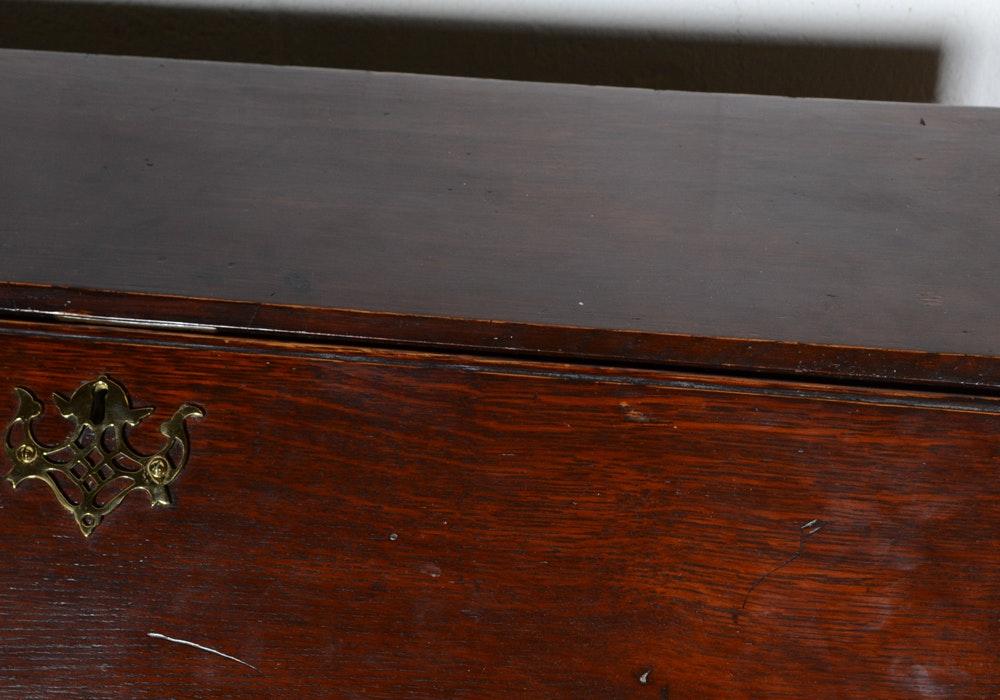 Antique George Ii Oak Slant Front Desk Ebth