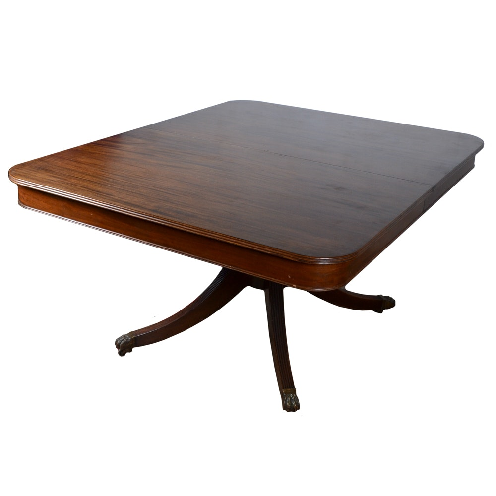 Vintage Federal Style Mahogany Dining Table By Potthast ...