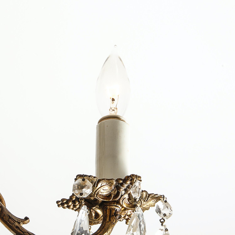 Vintage Brass Grapevine Motif Chandelier Ebth