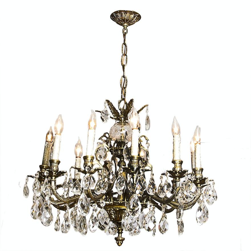Vintage brass acanthus leaf chandelier ebth vintage brass acanthus leaf chandelier aloadofball Choice Image