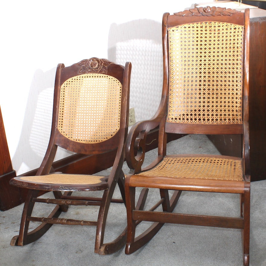 Vintage Wooden Rocking Chairs ... - Vintage Wooden Rocking Chairs : EBTH