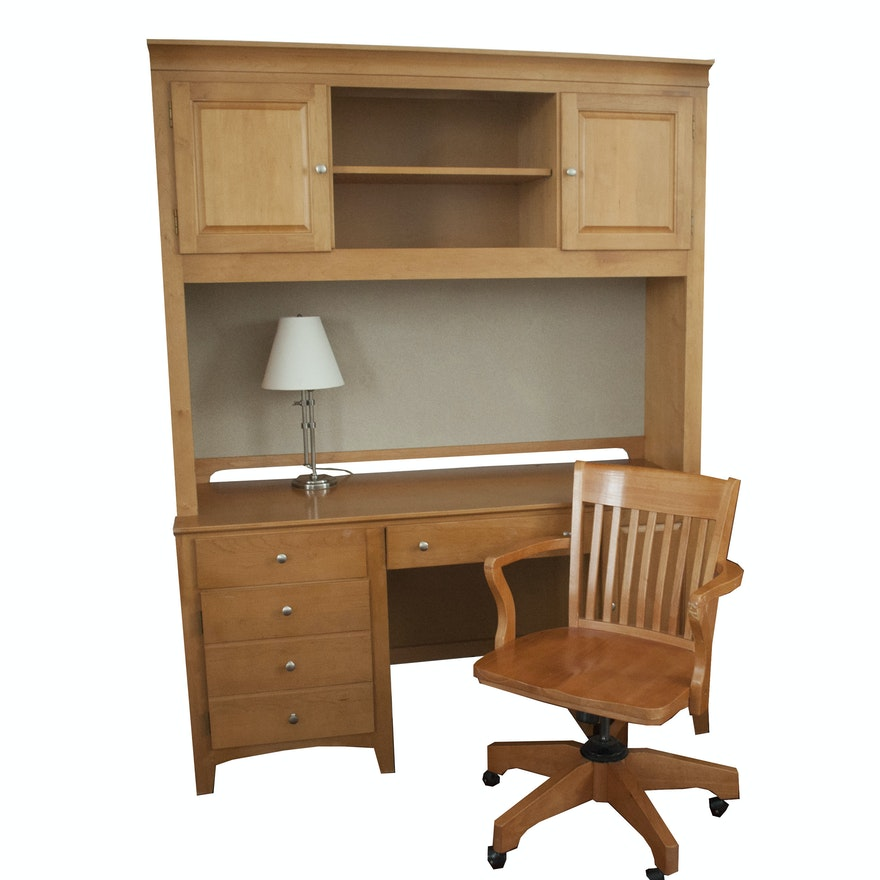 Stanley Furniture Desk Hutch Chair And Lamp