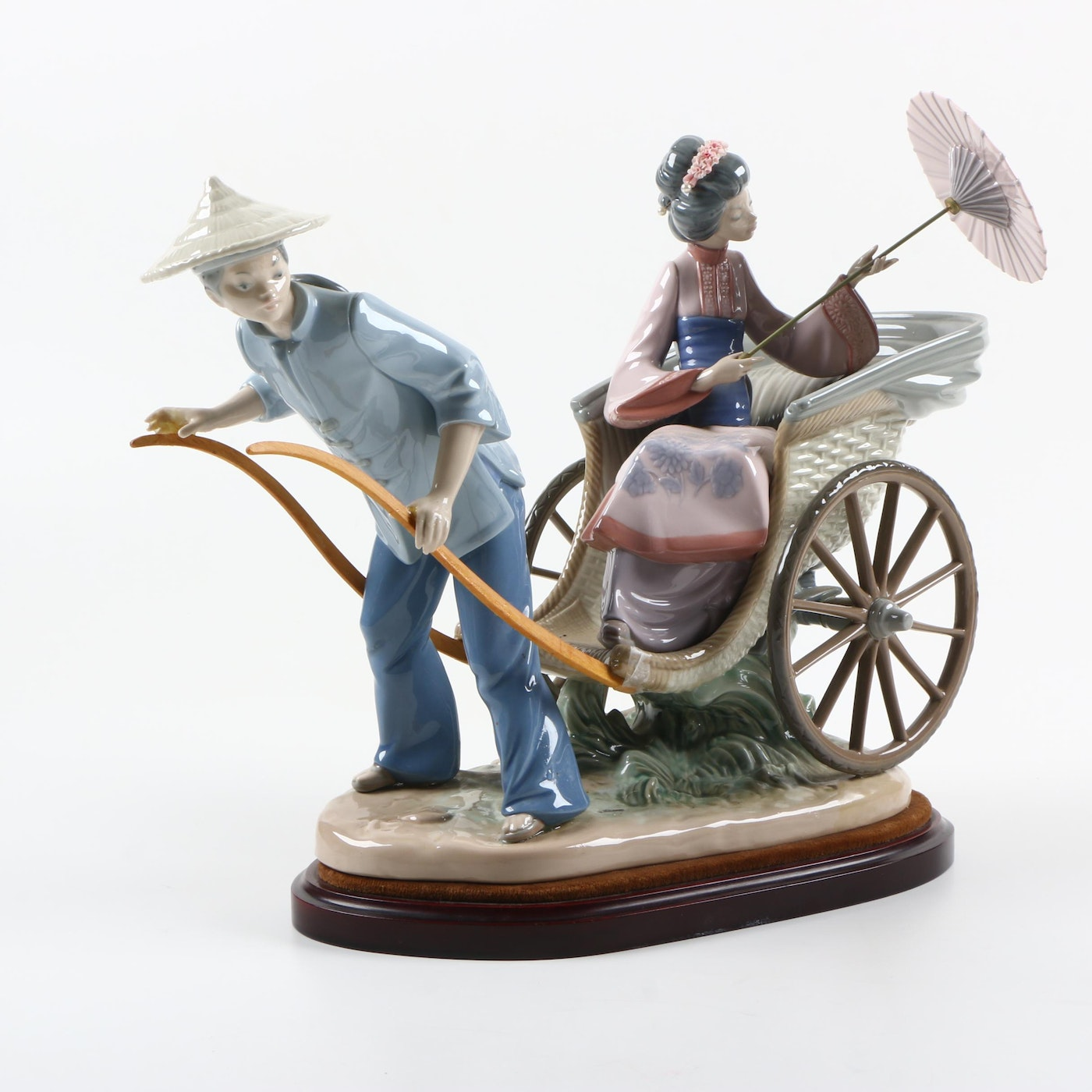 Lladro rickshaw ride figurine ebth - Consider including lladro porcelain figurines home decoration ...