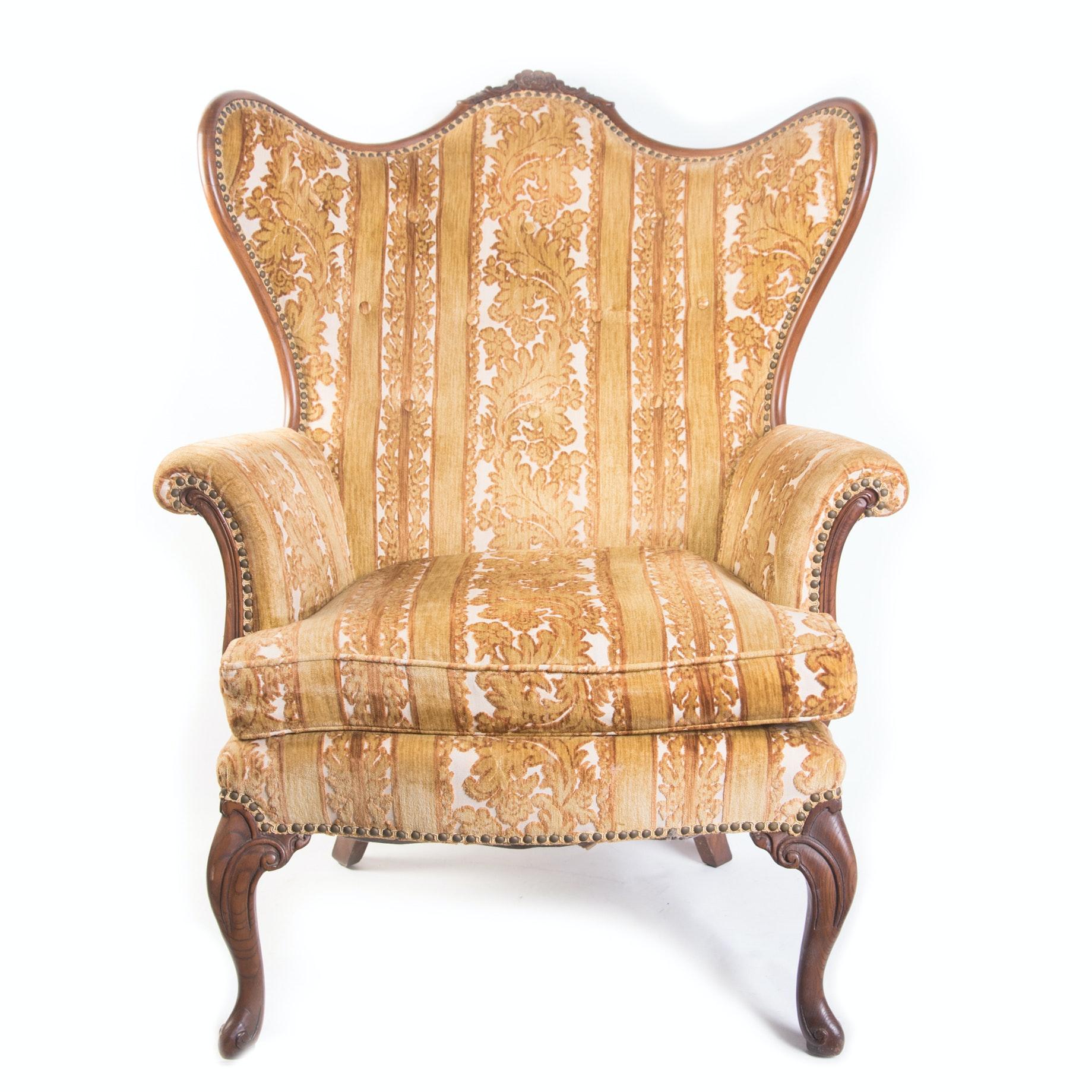 Vintage Globe Furniture Wingback Chair ...