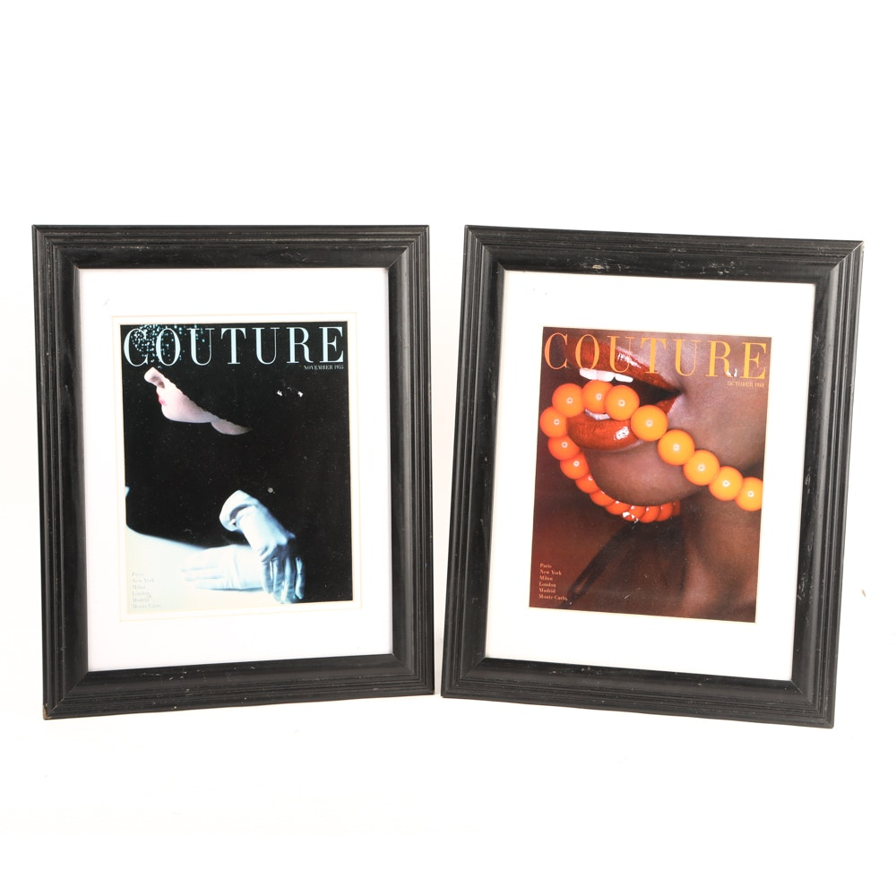 """Framed """"Couture"""" Magazine Covers"""