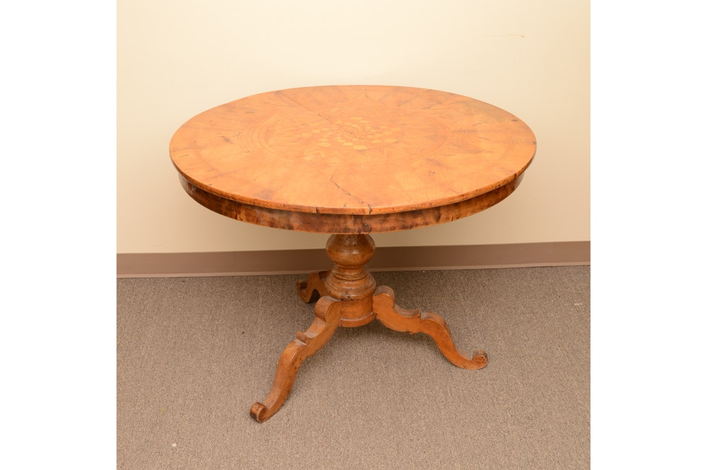 Antique Victorian Round Loo Table