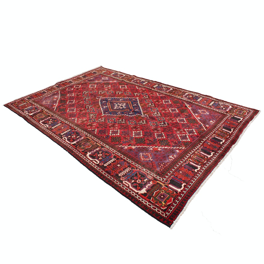 Hand Knotted Persian Wool Area Rug Ebth: Hand-Knotted Persian Joshegan Wool Area Rug : EBTH