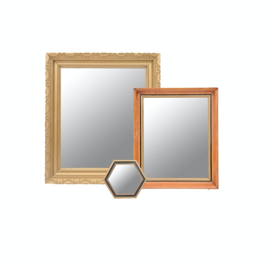 f58521f5cc2 Pair of Vintage Wall Mirrors with Merle Norman Cosmetics Mirror   EBTH
