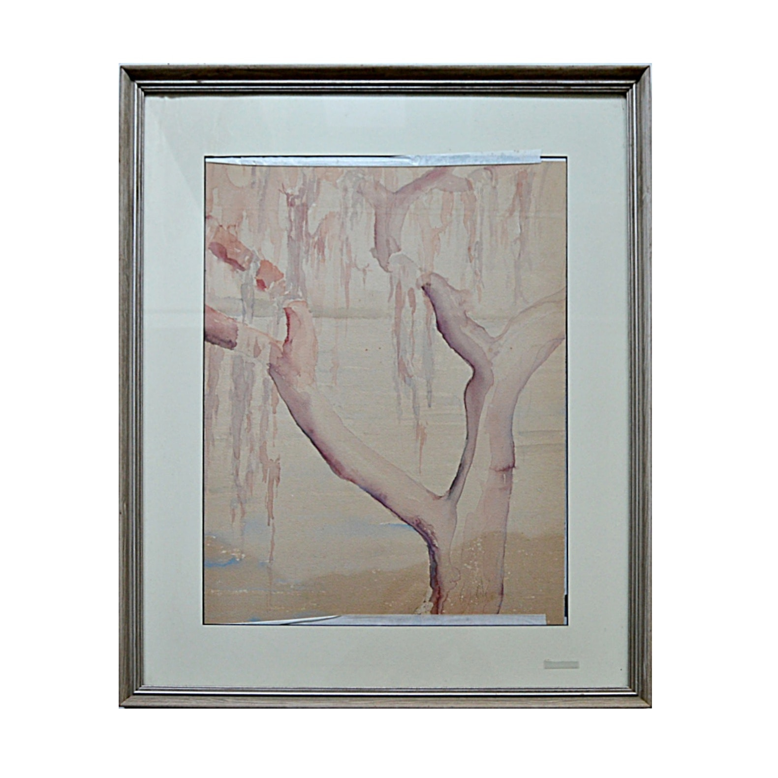 "Margaret Jones Signed Watercolor on Paper ""Spanish Legend in a Tree Top"""