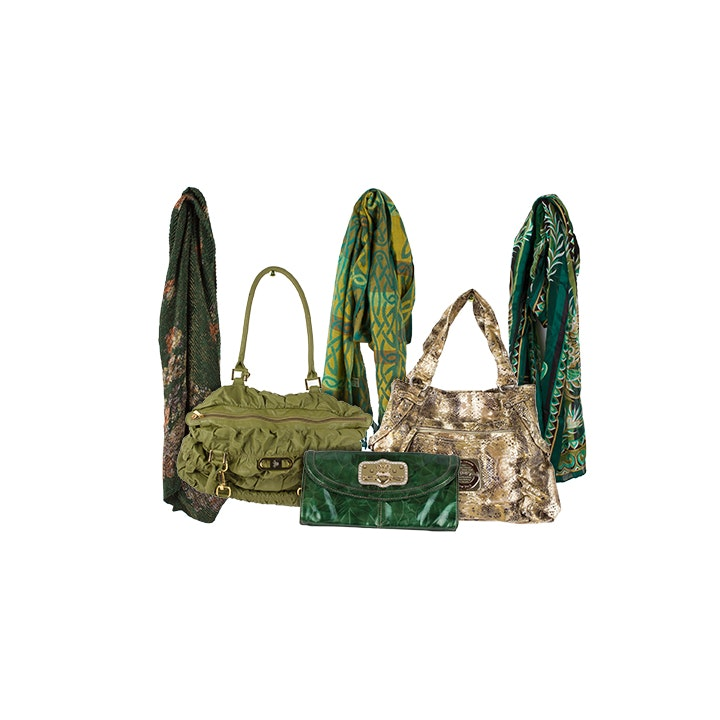 Handbags and Scarves Including Bob Mackie