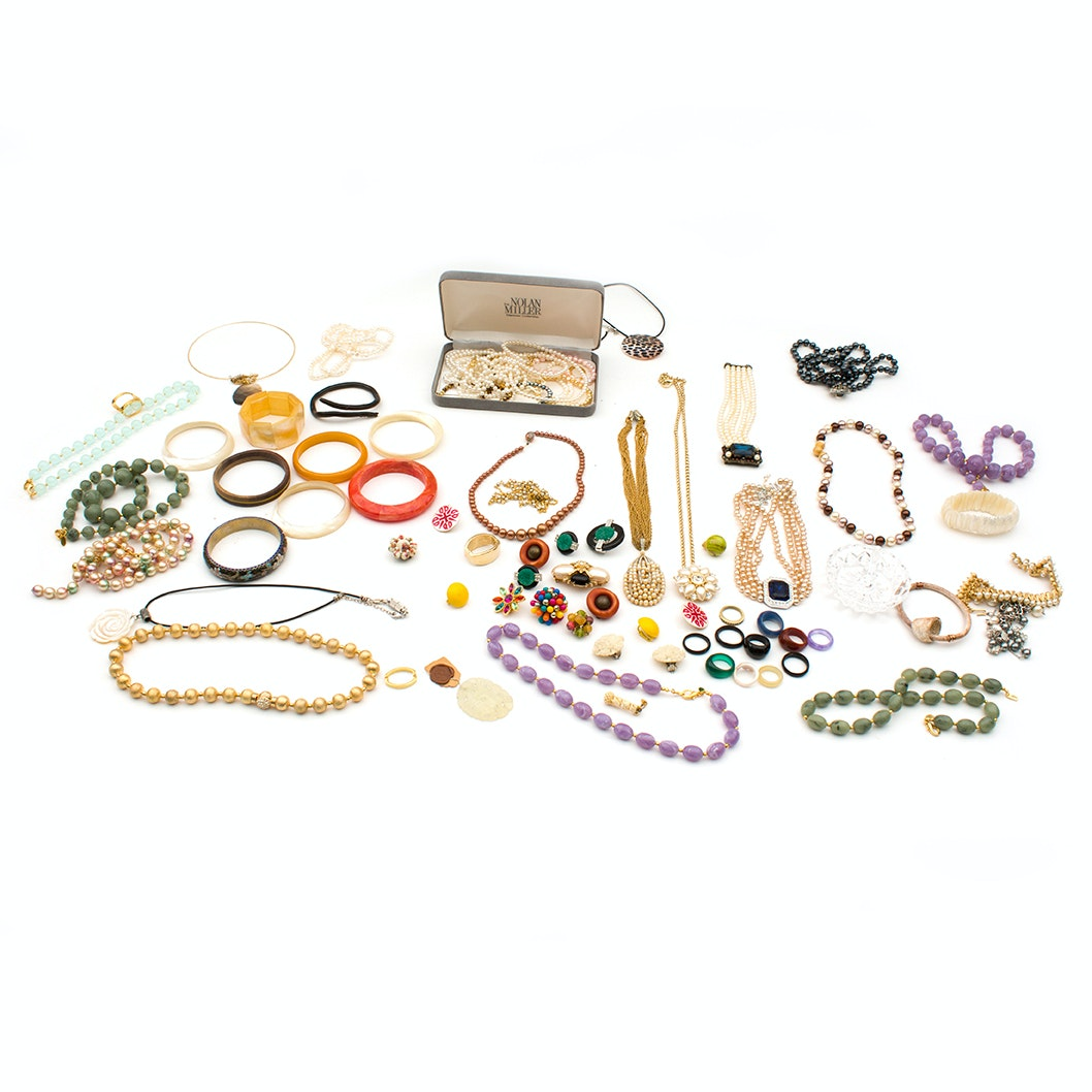 Generous Collection of Beaded and Rhinestone Costume Jewelry