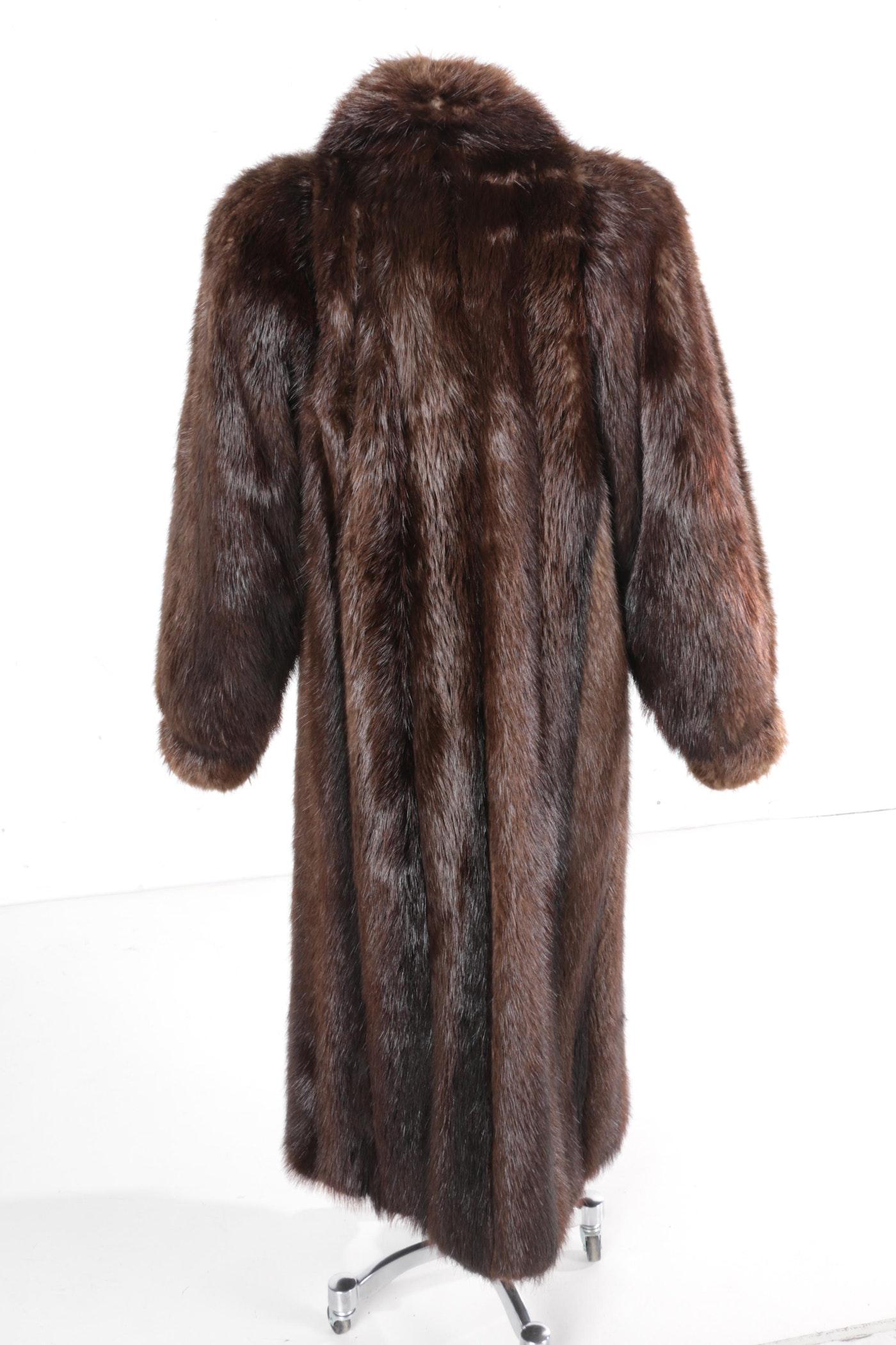 Women S Garber Furs Full Length Beaver Fur Coat Ebth