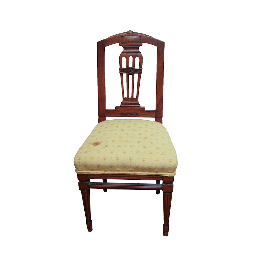 Antique Sheraton Style Side Chair ... - Antique Sheraton Style Side Chair : EBTH