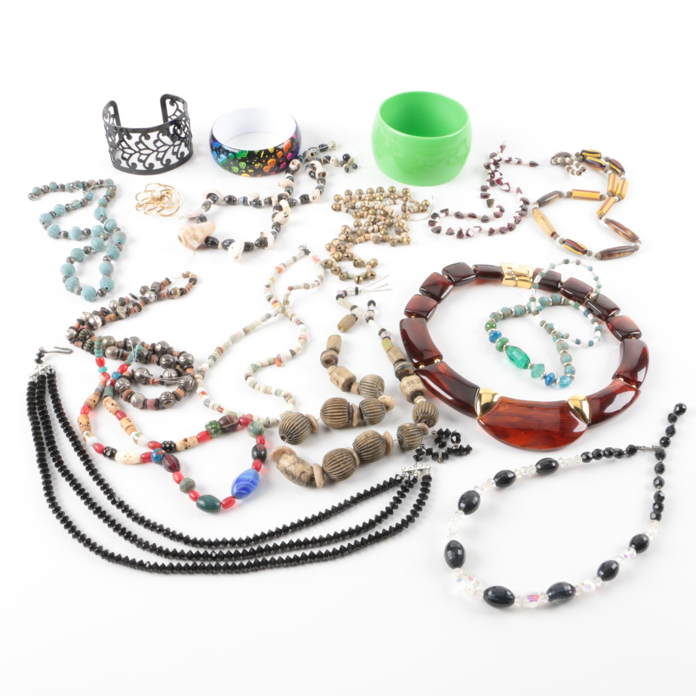 Assortment of Beaded Necklaces and Bracelets