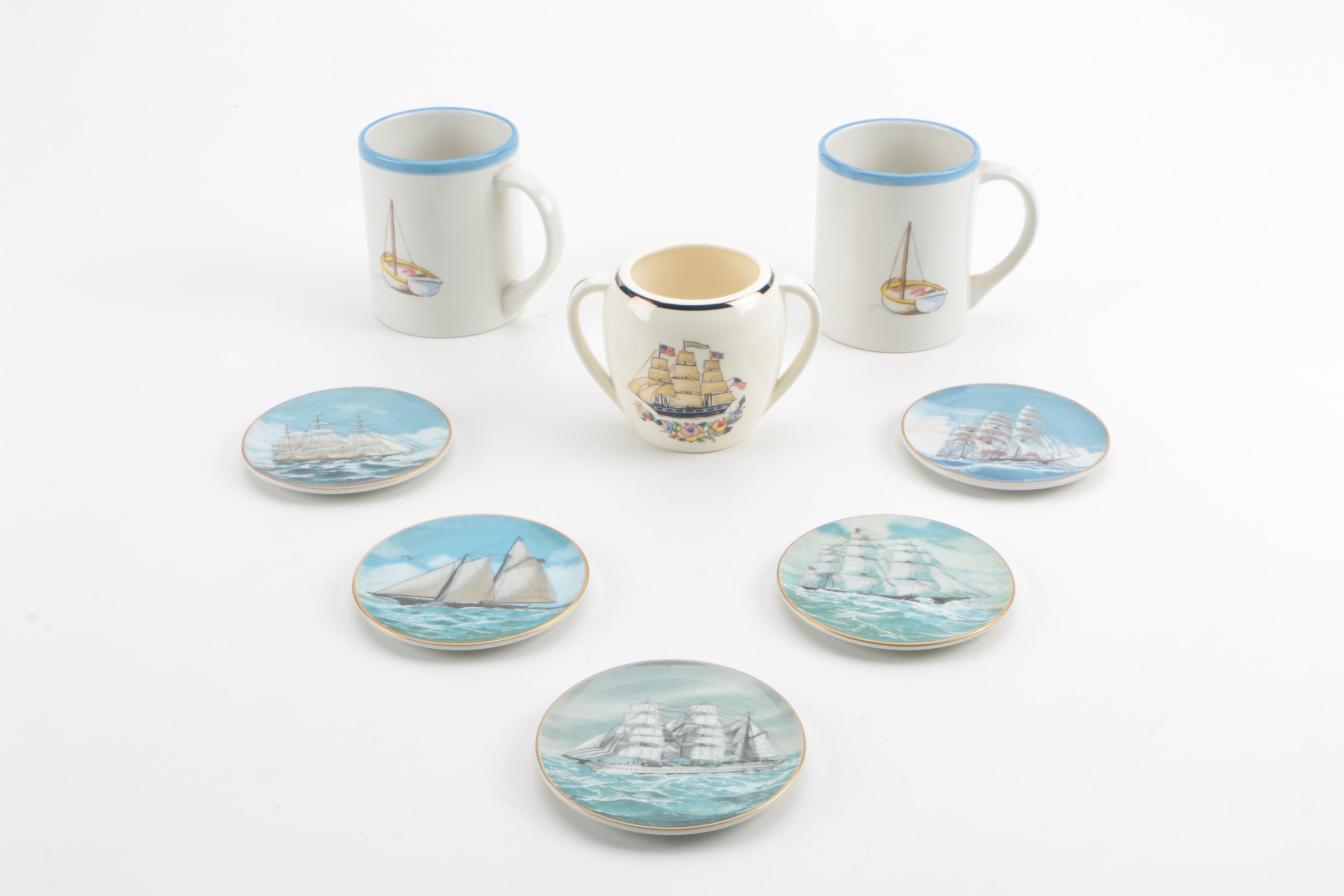 Nautical Themed Tableware Including Danbury Mint ... & Nautical Themed Tableware Including Danbury Mint : EBTH