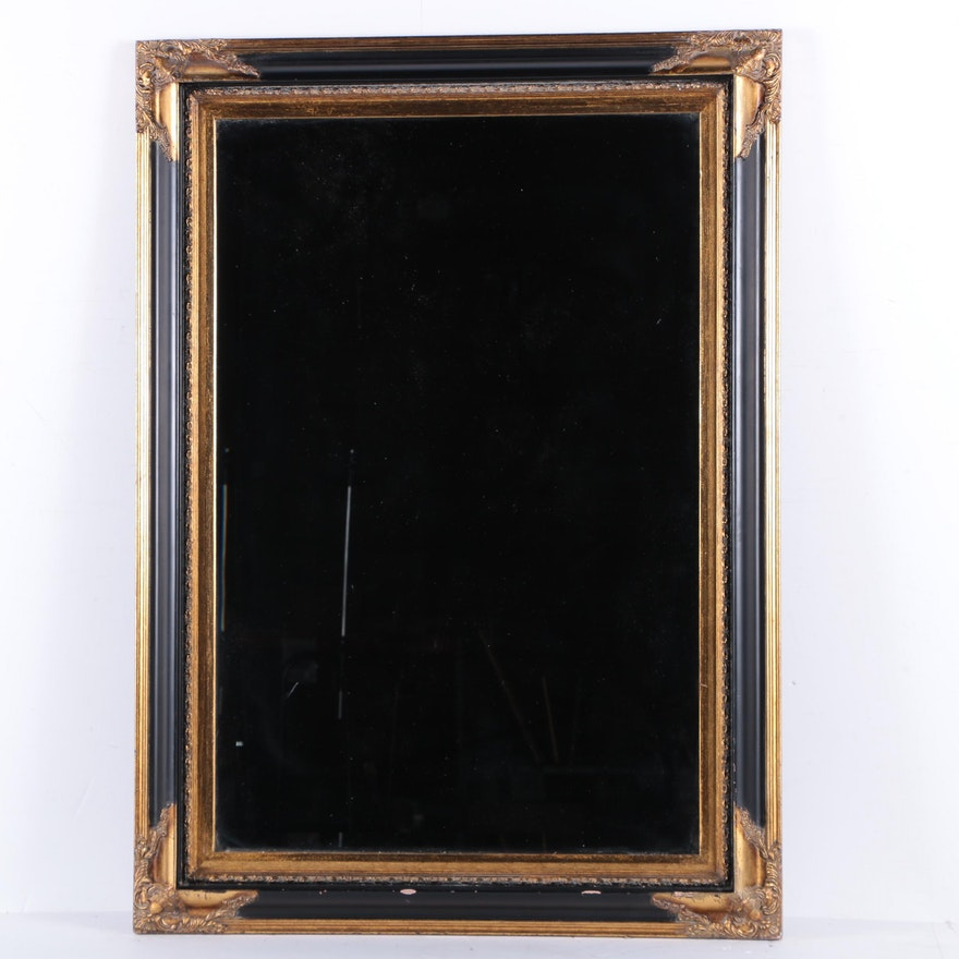 Large wood framed wall mirror ebth for Large wall mirror wood frame