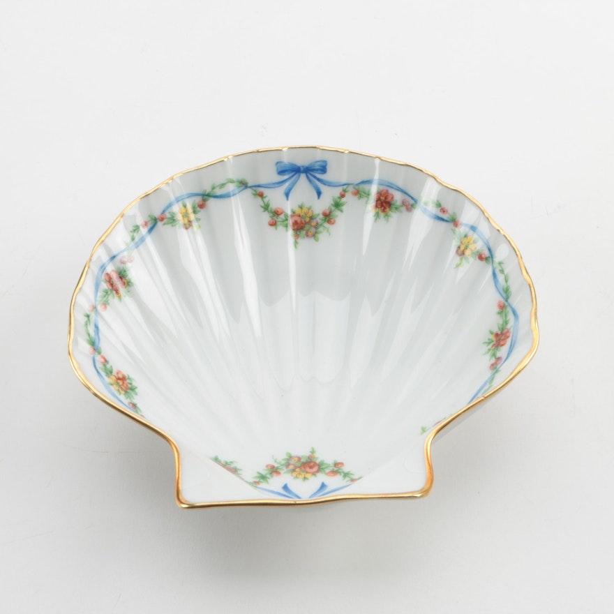 limoges porcelain shell dish ebth. Black Bedroom Furniture Sets. Home Design Ideas