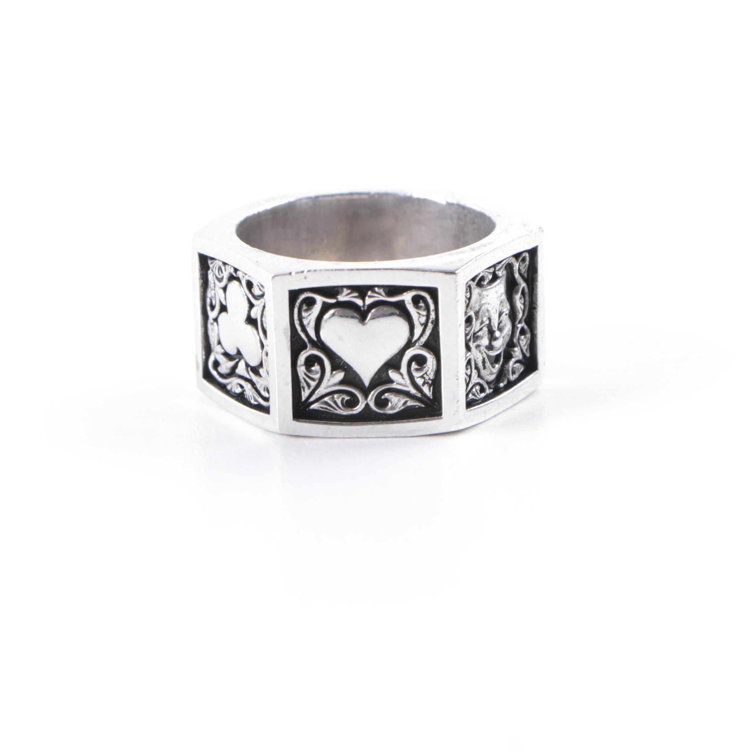 """Ecks """"The Nutz"""" Sterling Silver Ring"""