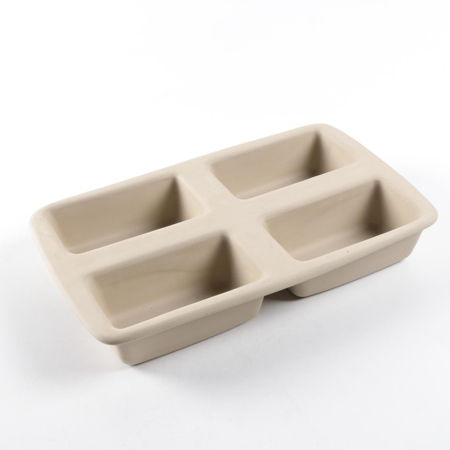 The Pampered Chef Stoneware Mini Loaf Pan : EBTH
