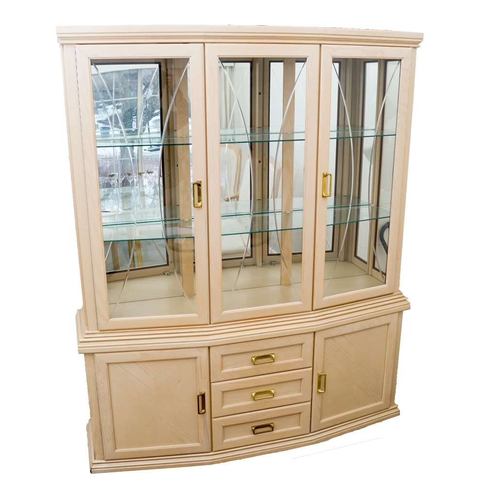 Vintage China Cabinet By Arcese Brothers ...