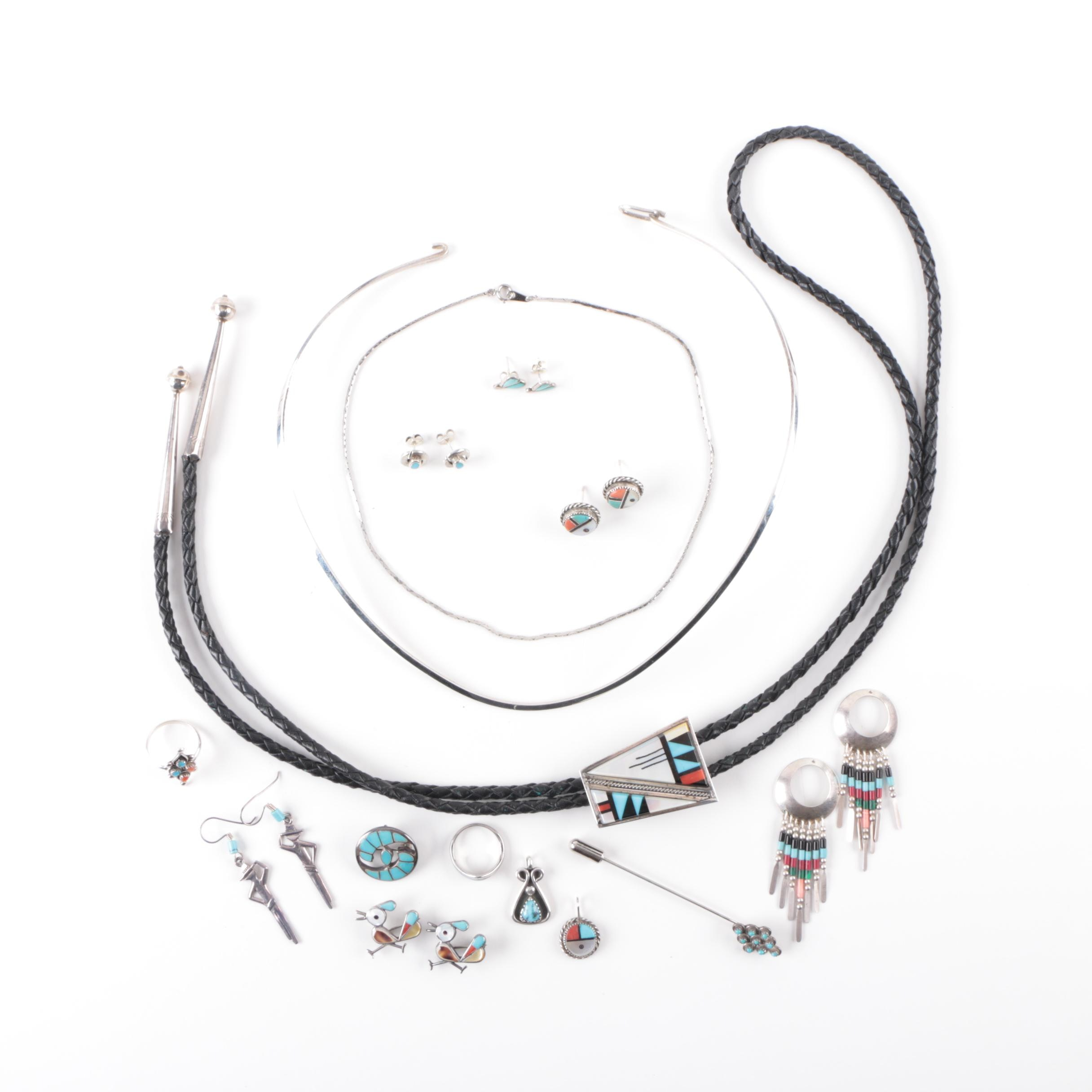Southwestern Style Sterling Silver and Stone Jewelry