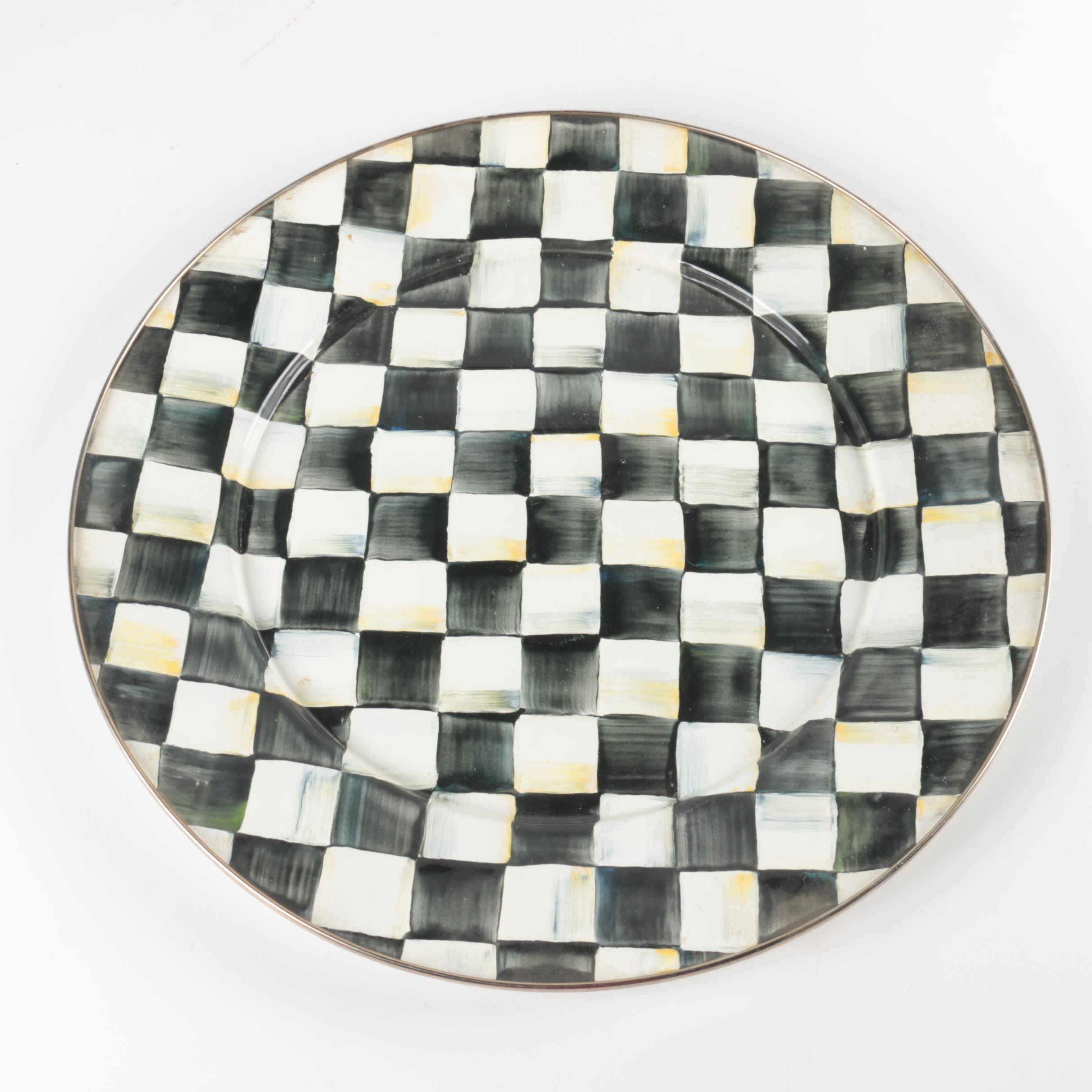 "MacKenzie Childs ""Courtly Check"" Platter"