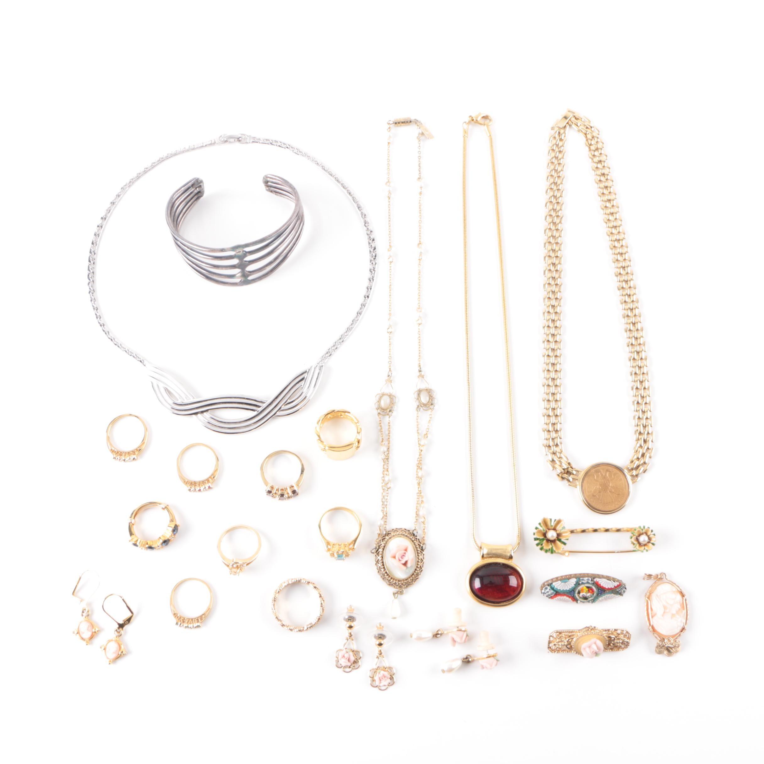 Grouping of Jewlery Including Gemstones