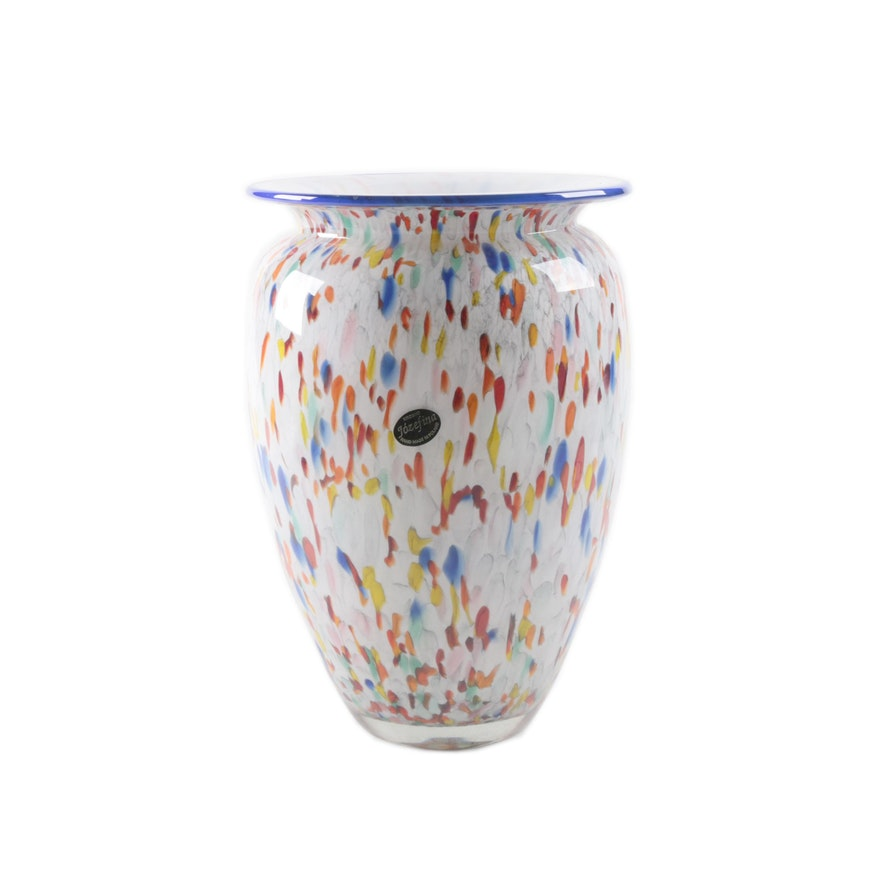 Krosno Jzefina Polish Hand Blown Confetti Glass Vase Ebth
