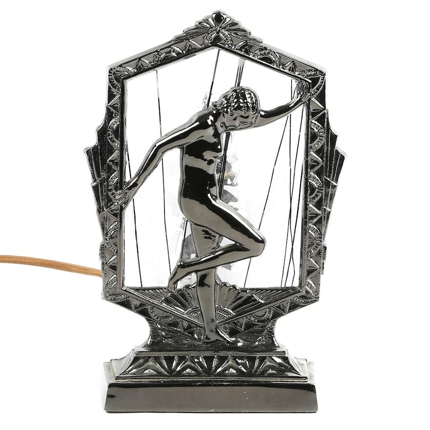 Art deco style vanity lamp ebth for Art deco style lamp