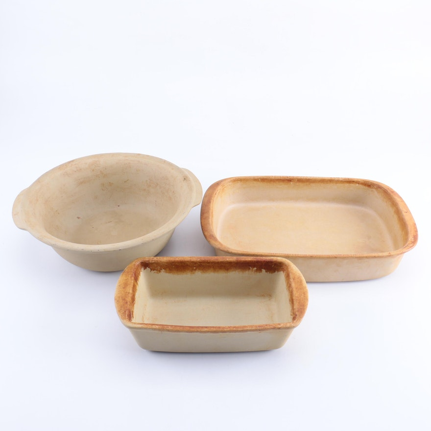 Pampered Chef Stoneware Baking Dishes : EBTH