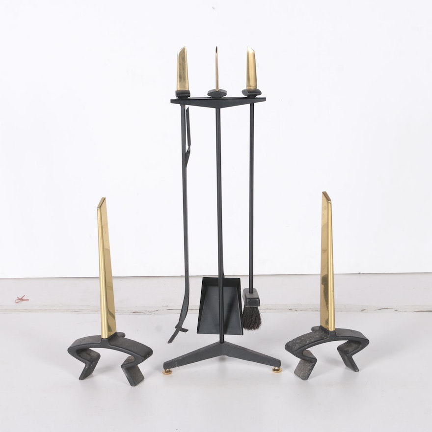 Mid Century Modern Modern Fireplace Tools And Andirons By Donald Deskey Ebth
