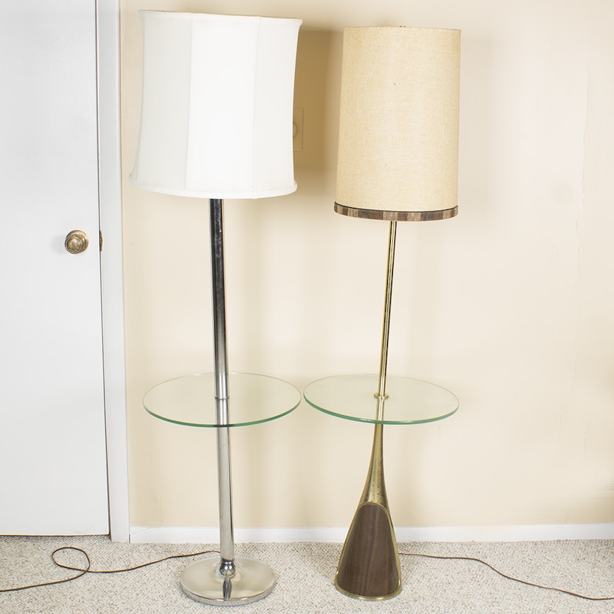 Vintage floor lamp tray tables ebth for Floor lamps with tray tables