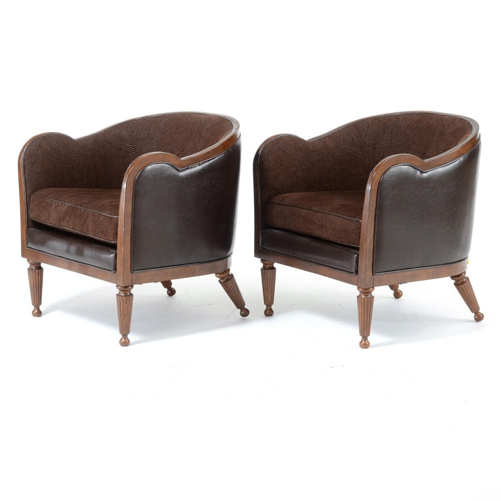 Exceptionnel Pairing Of Contemporary Barrel Chairs ...