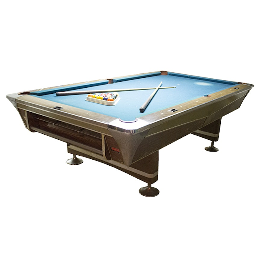 Vintage Fischer Empire Pool Table With Accessories EBTH - Fischer pool table