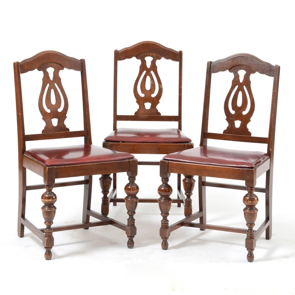 Set Of Three Vintage Jake Tennenbaum Chairs Ebth