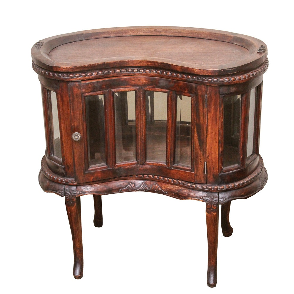 Vintage Victorian Style Mahogany Dumb Waiter Table with Tray