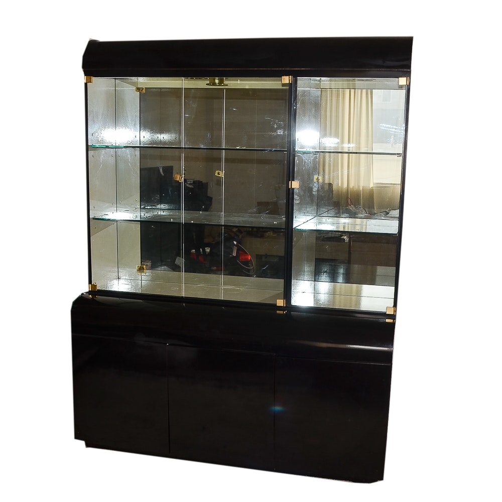 Contemporary Style Black China Cabinet