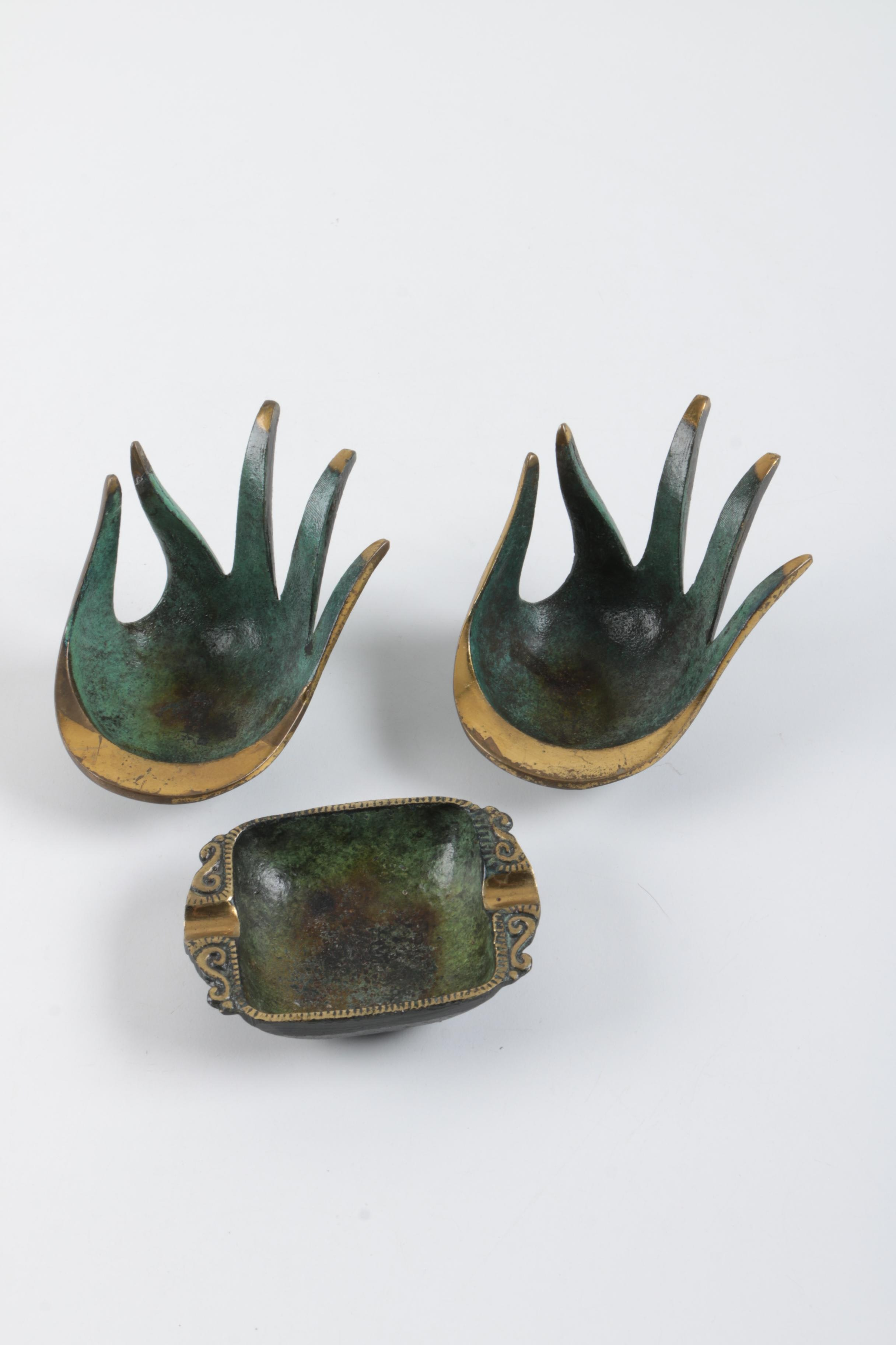 hand shaped metal bowls with ash receiver ebth