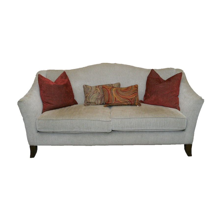 Upholstered Camelback Sofa From Craftmaster