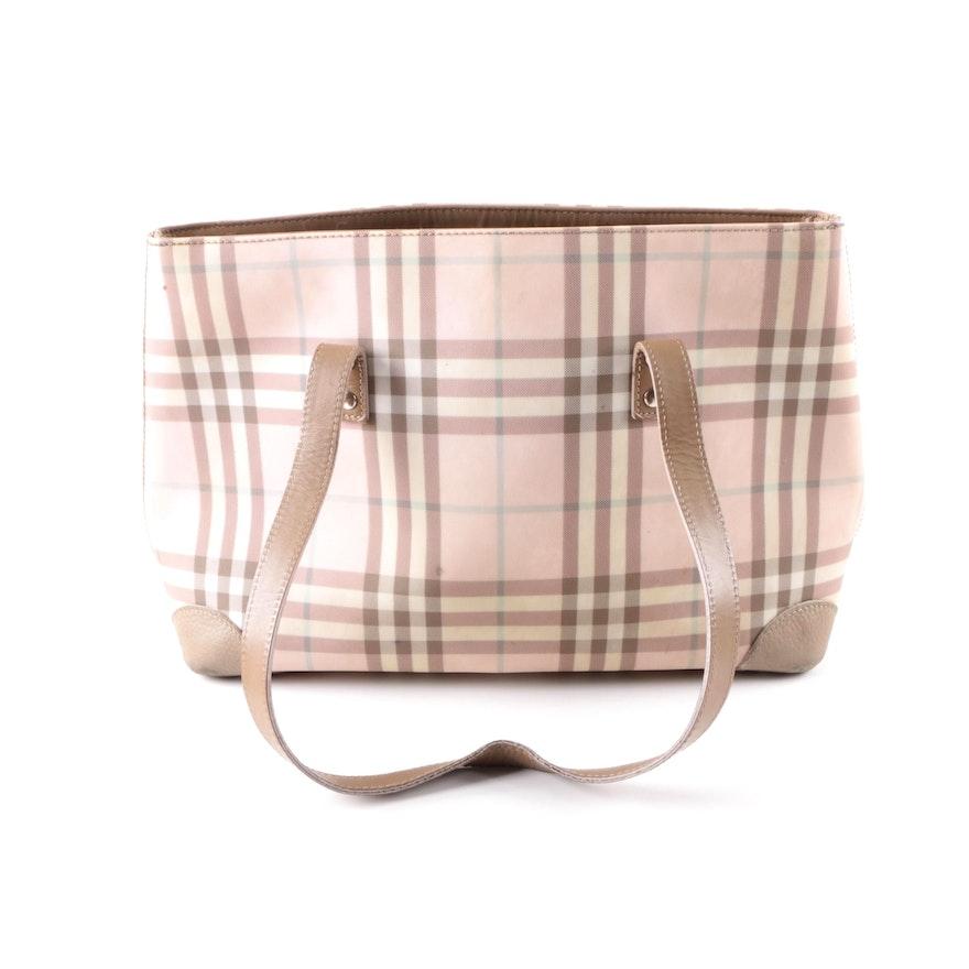 f443c1f9d97e Burberry Pink Candy Check PVC Tote Handbag   EBTH