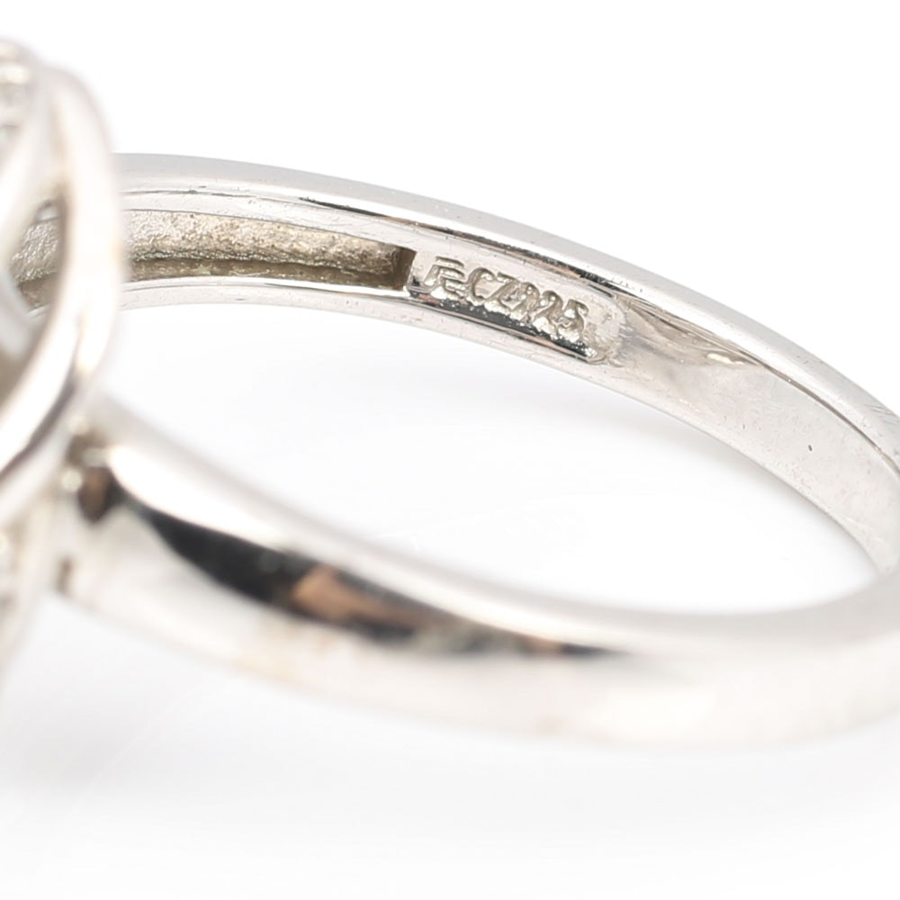 Sterling Silver Cubic Zirconia Ring Ebth