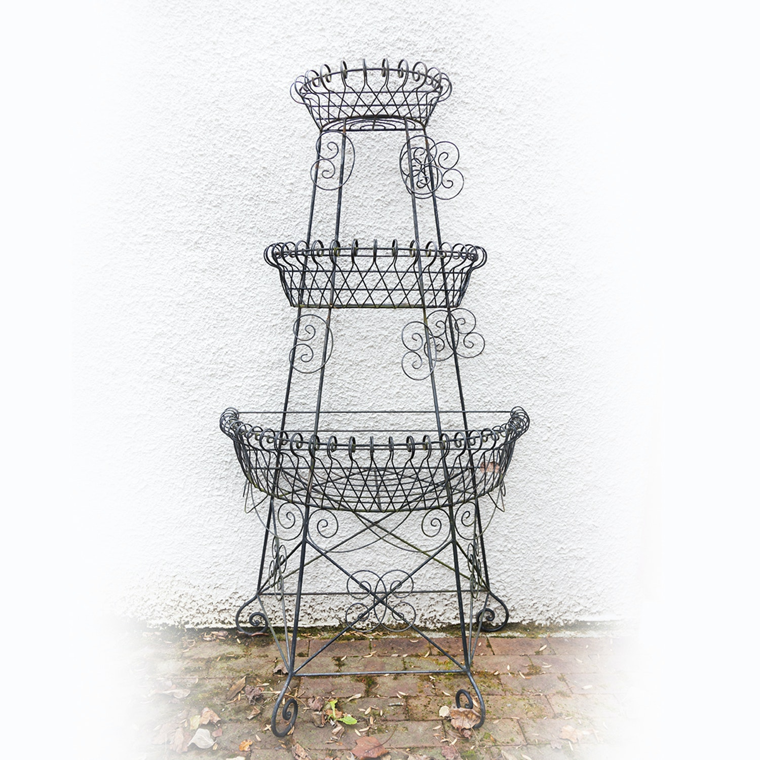 Victorian Style Tiered Iron Plant Stand