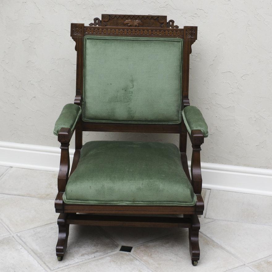- Vintage Eastlake Style Upholstered Rocking Chair : EBTH