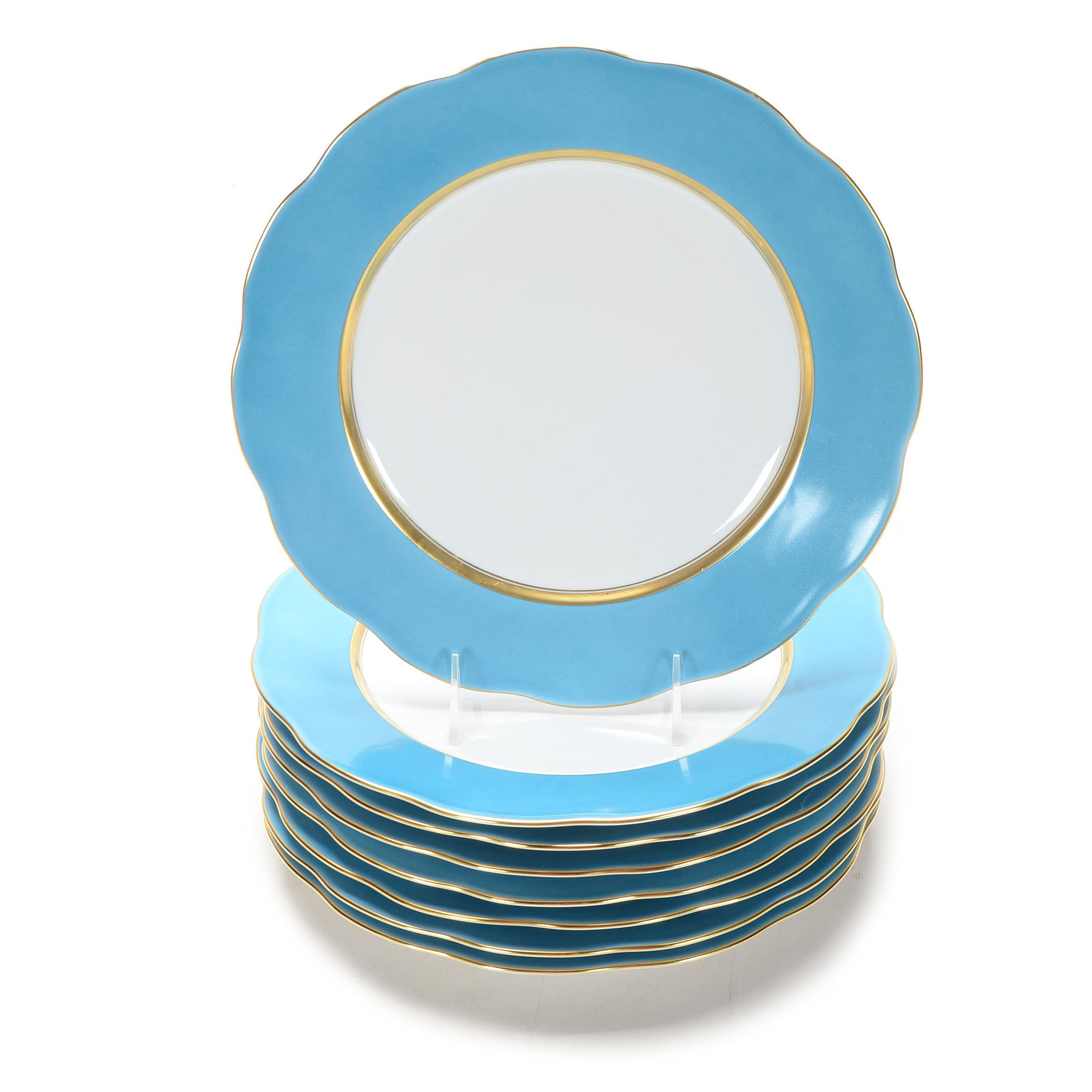 Herend Hungary  Silk Ribbon  Turquoise Dinner Plates ...  sc 1 st  EBTH.com & Herend Hungary