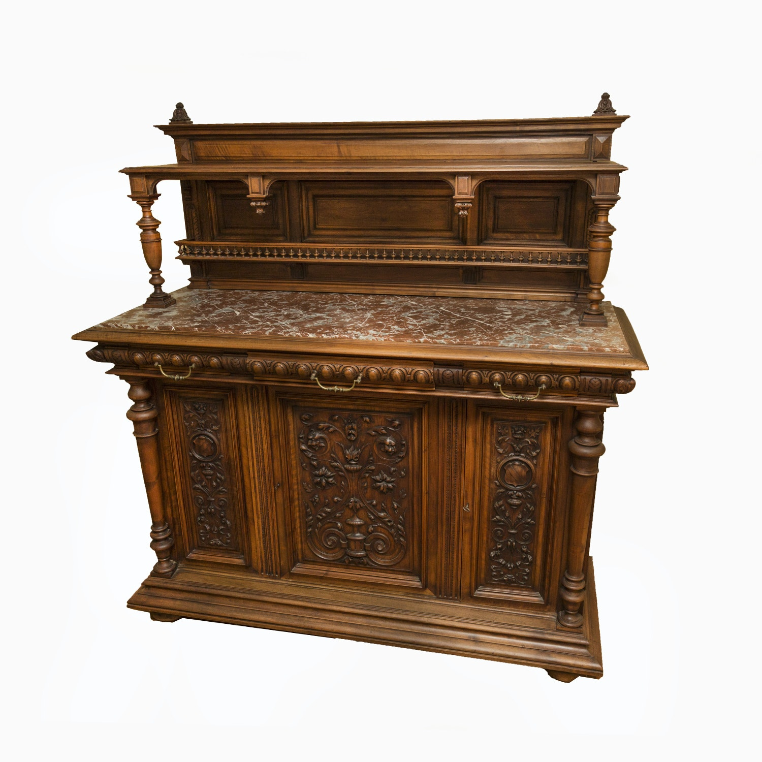 Antique French Renaissance Revival Style Walnut Buffet
