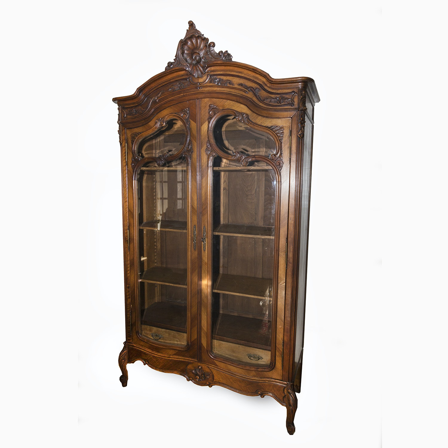 Antique French Louis XV Style Book Cabinet